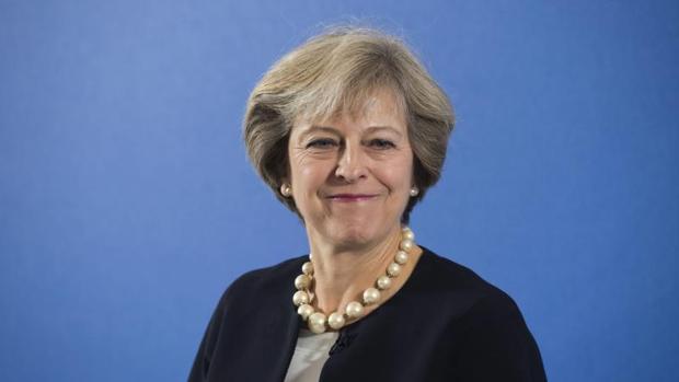 La primera ministra británica, Theresa May, en la Academia Británica en Londres