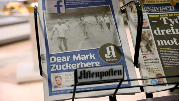 El diario «Aftenposten» lleva a su primera plana la queja y carta abierta a Mark Zuckerberg y su política de censura en la red social