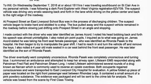 El informe del agente Kevin Thompson sobre lo sucedido