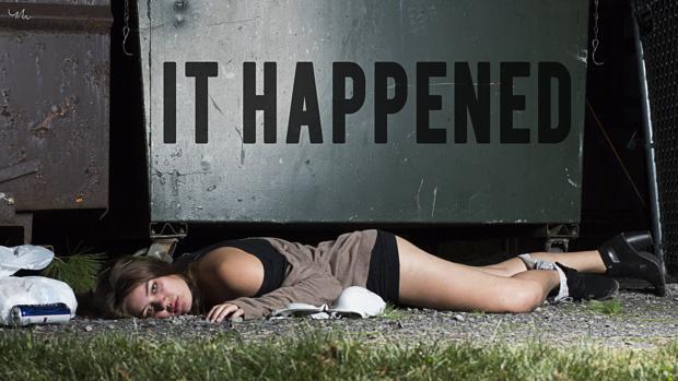 La última fotografía de la colección de Yana Mazurkevich bajo la frase «Esto pasó»