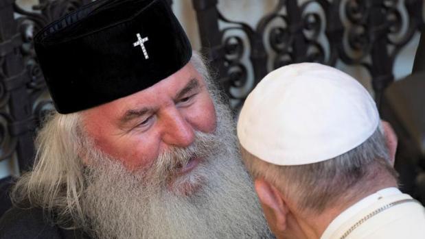 El Papa Francisco durante el encuentro interreligioso en Asís, Italia