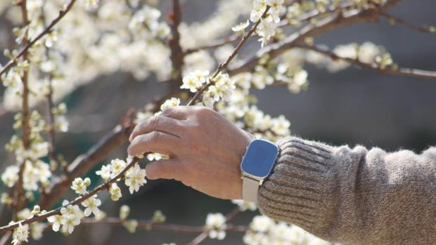 Un anciano porta el reloj Nock Senior