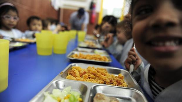 Comedor escolar en un colegio de Cataluña