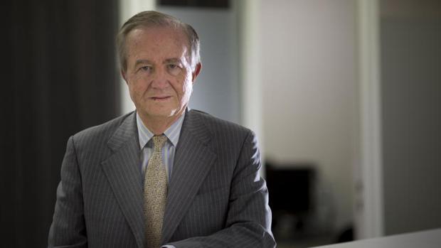 El presidente de PharmaMar, José María Fernández de Sousa, en un momento de la entrevista con ABC