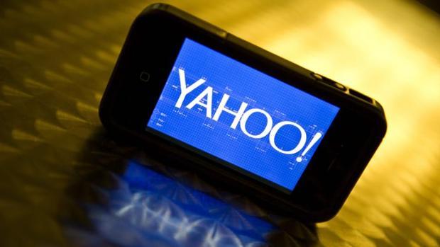 El logo de Yahoo en un smartphone