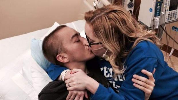 Imagen de Dalton y Katie, la pareja que sufría fibrosis quística