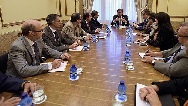 El ministro de Educación con los representantes de las patronales de la concertada