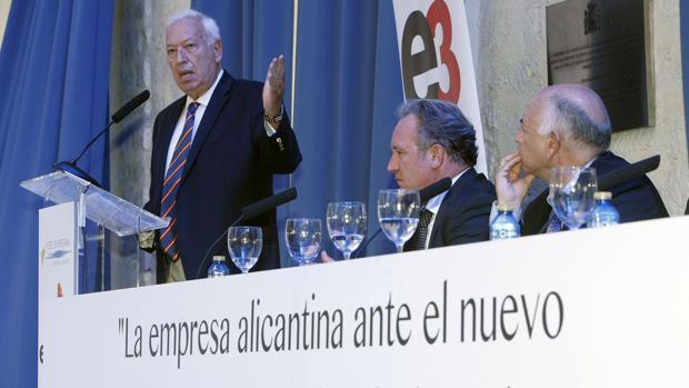 El ministro García-Margallo durante su intervención hoy en la clausura de unas jornadas sobre las consecuencias del Brexit