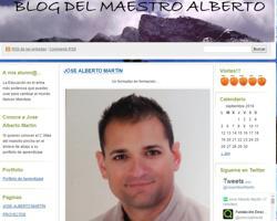 El blog del maestro Alberto, donde el educador se define como «un formador en formación»