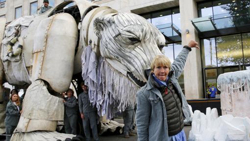 Emma Thompson, durante una protesta en las calles de Londres