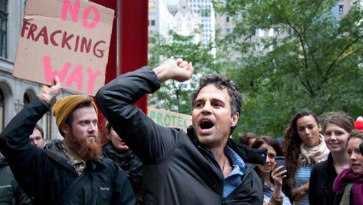 Ruffalo, en una manifestación contra el fracking