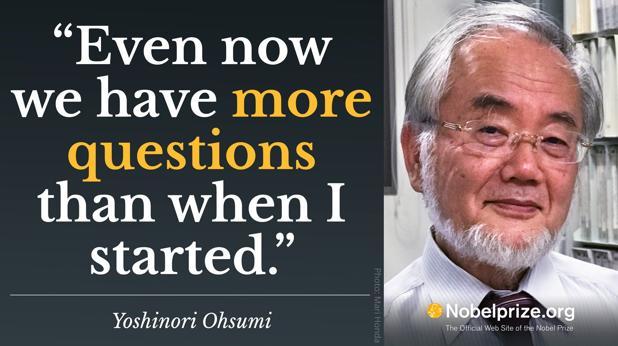 Premio Nobel de Medicina 2016:  Yoshinori Oshumi: «Incluso ahora tenemos más preguntas que cuando empecé»