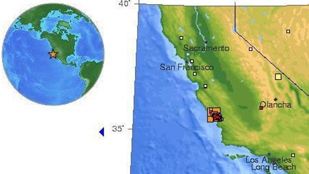 La Falla de San Andrés, en California, es una zona de alta intensidad sísmica