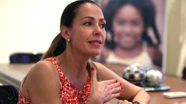 Catalina Escobar, en un momento de la entrevista concedida a ABC