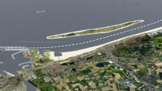El proyecto de la isla artificial que estudia el gobierno de Flandes