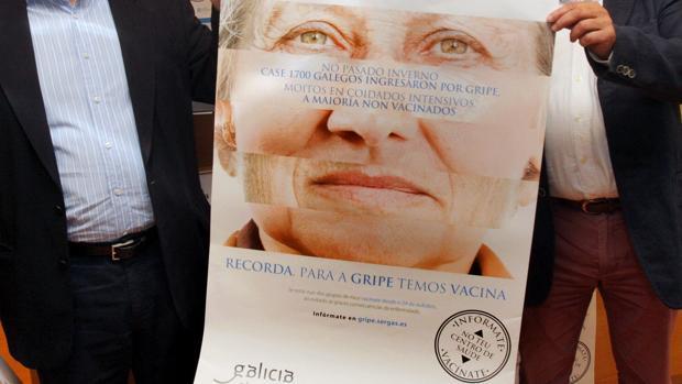 Campaña de vacunación antigripal, dirigida especialmente a la población más vulnerable, los mayores, en Galicia