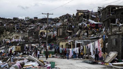 Imagen de la ciudad de Jeremie (Haiti) tras el paso del huracán