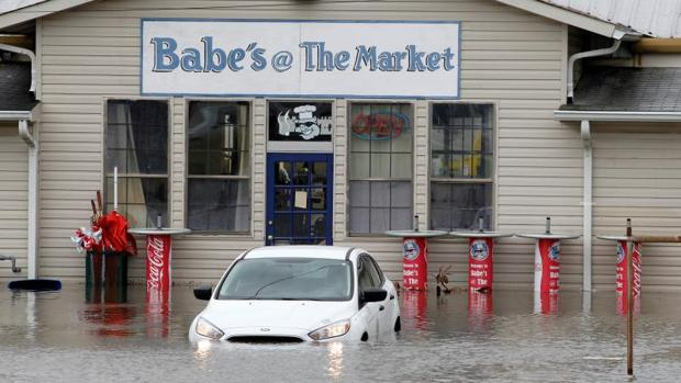 Las peores inundaciones se han registrado en la localidad de Savannah