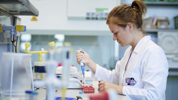La doctora de la Facultad de Biotecnología de la Universidad de Gdansk Ewelina Krol trabaja en su laboratorio en Gdansk, Polonia, en una investigación para desarrollar una vacuna segura y barata contra el virus del Zika
