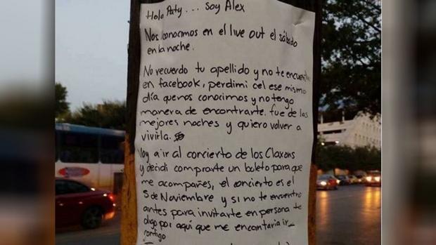 Esta es la carta que escribió el enamorado para encontrar a Paty