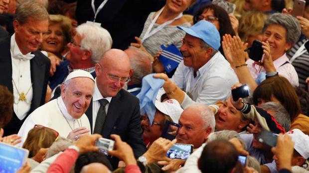 El Papa durante el encuentro con miembros de Asociación Italiana de Trabajadores