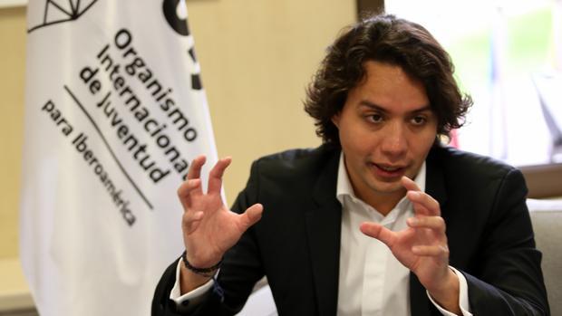 Max Trejo, en un momento de la entrevista concedida en la sede de la OIJ en Madrid