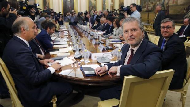 El ministro de Educación, Íñigo Méndez de Vigo al inicio de la Conferencia Sectorial con los consejeros autonómicos celebrada el pasado mes de mayo.