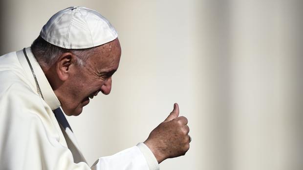 El Papa Francisco hoy durante la audiencia semanal