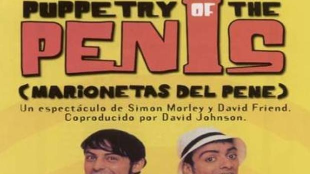 Cartel de la película «Las marionetas del pene», con Simon Morley y David Friend