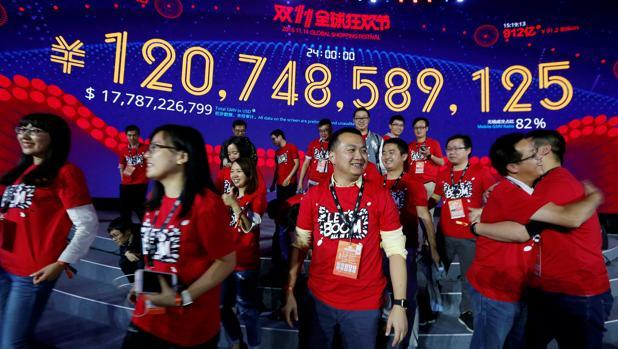 Récord mundial de ventas online del Grupo Alibaba