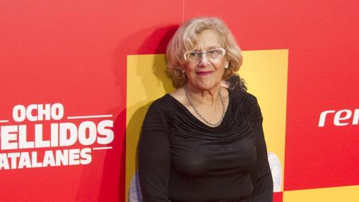 Manuela Carmena, en la presentación de la película «Ocho apellidos catalanes»