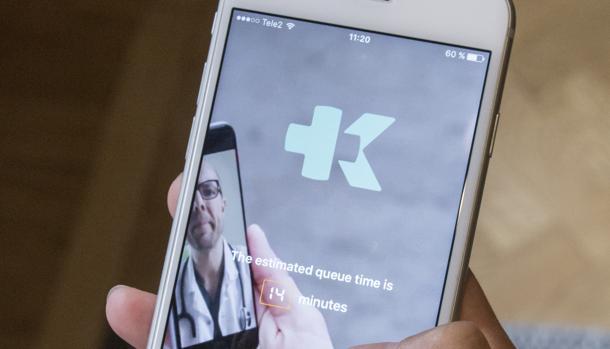 «El tiempo estimado en lista de espera es de 14 minutos...» para una consulta virtual del médico en Suecia