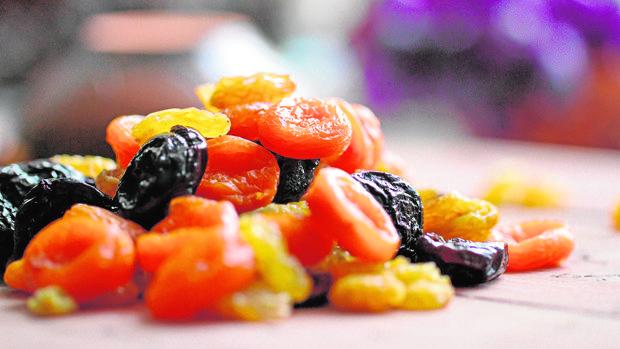 Frutas secas, una sana golosina