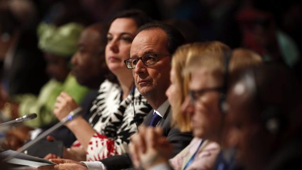 Francois Hollande, en la Cumbre del Clima