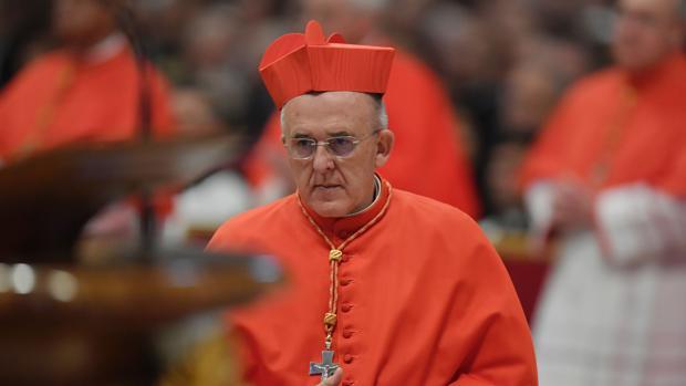 Don Carlos Osoro, arzobispo de Madrid, en un momento de la ceremonia