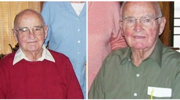 Cleo y Clifford Hawthorne, los gemelos más ancianos del mundo, en 2012