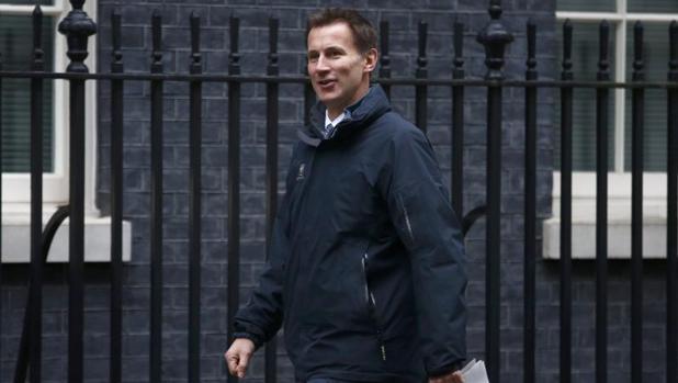 El ministro de Sanidad británico, Jeremy Hunt