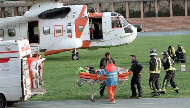 Un señor, evacuado tras un infarto