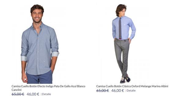 Camisas con descuento en la página web de El Ganso