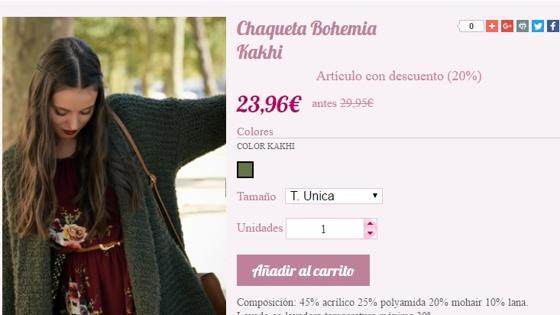 Chaqueta de punto de Muñeca de trapo rebajada a 23,96 euros