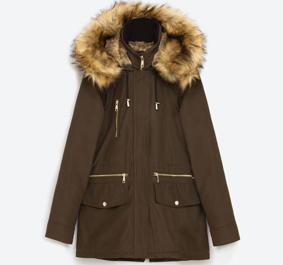 Esta parka de Zara, que antes costaba 89,95 euros, hoy se puede comprar por 71,96 euros