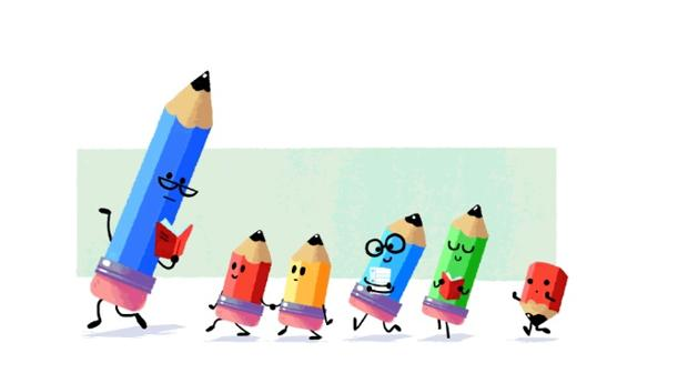 Google dedica hoy su doodle al Día del Maestro que en España se celebra cada 27 de noviembre