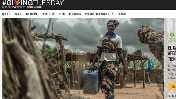 Celebrar la acción de dar:  «Giving Tuesday»: tras el consumismo masivo, comienza la fiesta de la solidaridad