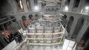 Las obras de restauración de la tumba de Jesús en Jerusalén revelan severos daños