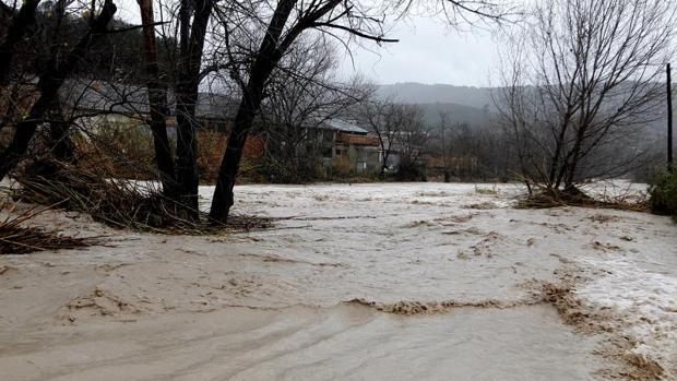 Desbordamiento del río Clariano a su paso por Ontinyent