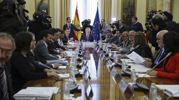 El ministro de Educación, Íñigo Méndez de Vigo, presidiendo la última reunión de la Conferencia Sectorial