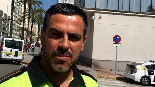 Bernardo López, uno de los dos agentes que intervinieron