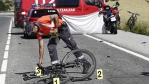 Las autoridades actúan en uno de los atropellos ocruridos hoy en Navarra