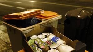 Comida abandonada en contenedores de la Comunidad de Madrid