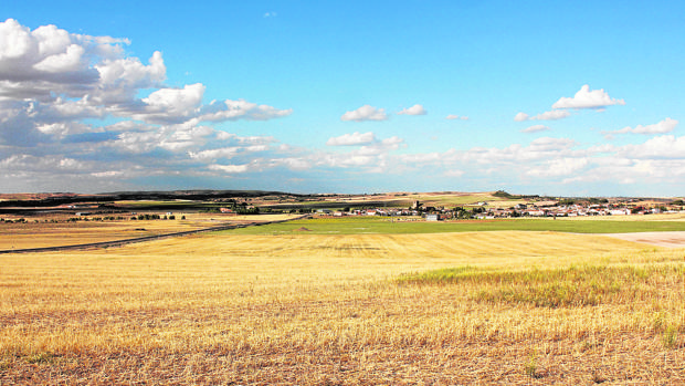 Terrenos de Villar de Cañas donde está previsto construir el almacén nuclear